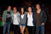 LOS ANGELES - APR 1:  Kendall Schmidt, James Maslow, Carlos Pena, Jr. and Logan Henderson of Big Tim