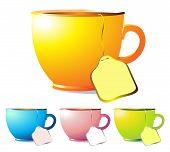 Постер, плакат: Кофейные чашки