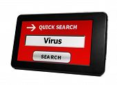 foto of virus scan  - Close up of Search for Virus concept - JPG