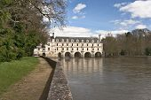 image of poitiers  - View of the arches and east facade of the Pont de Diane over the River Cher - JPG
