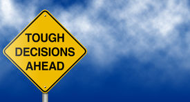 image of road sign  - Metaphoric message road sign suitable for a variety of business and personal finance themes - JPG
