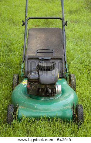 Cortador de grama verde
