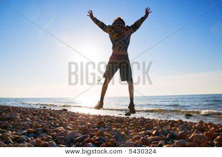 Glück In der Strand-Landschaft