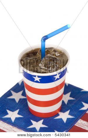 Ice Cold July Fourth Soda
