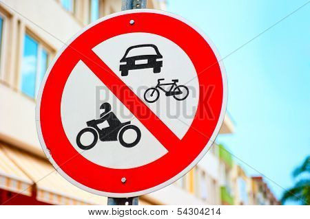 Symbol Denoting The Pedestrian Zone