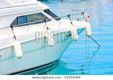 White Fenders On Aboard The Yacht