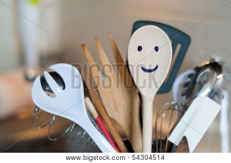 The Wooden Smiling Spoon