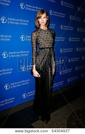 NEW YORK-NOV 21; Model Karlie Kloss attends the American Museum of Natural History's 2013 Museum Gala at American Museum of Natural History on November 21, 2013 in New York City.