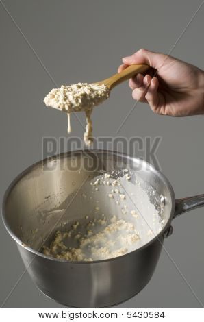 Porridge And Saucepan