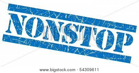 Nonstop Grunge Blue Stamp