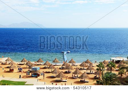 Sharm El Sheikh, Egypt -  November 30: The Tourists Are On Vacation At Popular Hotel On November 30,