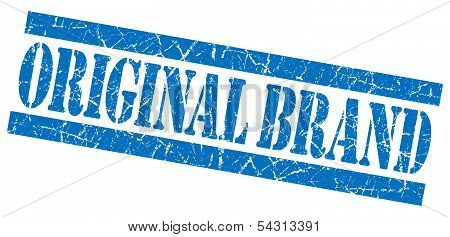 Original Brand Grunge Blue Stamp