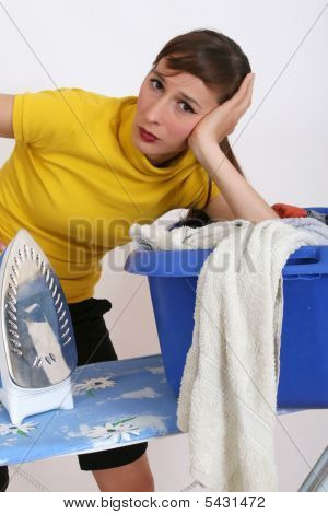 Woman By Housework