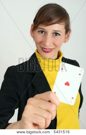 Woman With Playing Card