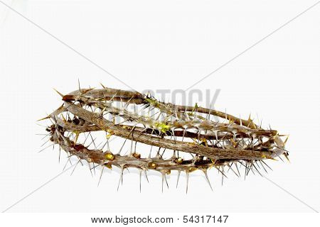Woven Thorny Branches Depicting Crown Of Thorns