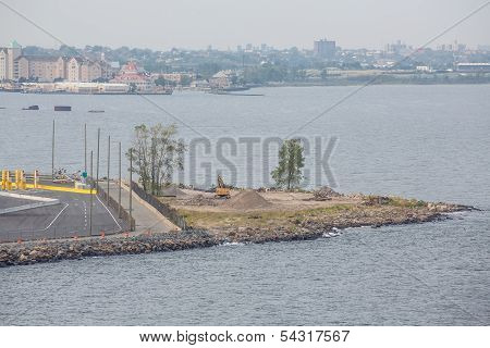 Jetty Of Land Under Construction
