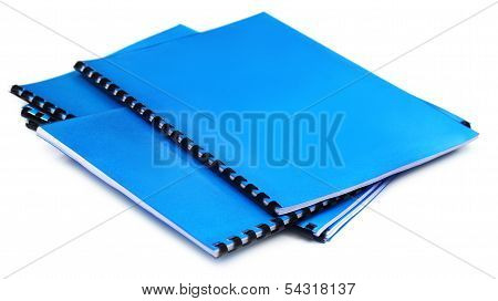 Blue Spiral Bound Note Books