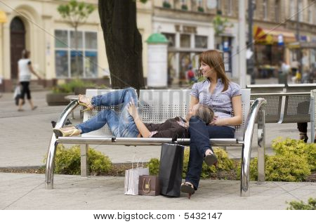 Chatting On The Bench