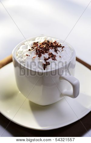 Delicious Cup Of Cappuccino Coffee