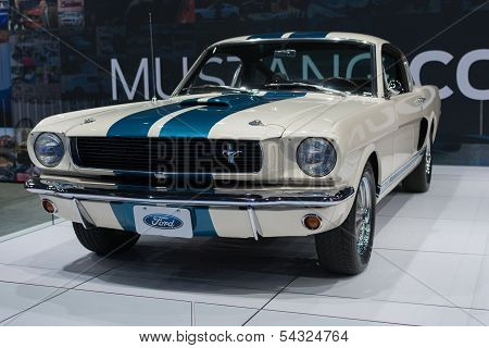 Ford Mustang 1966 Shelby Gt350 Car On Display At The La Auto Show.