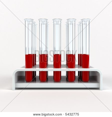 Medical Test-tube With Blood Samples