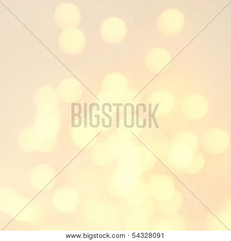 Gold Festive Christmas Background. Abstract Twinkled Bright Background With
