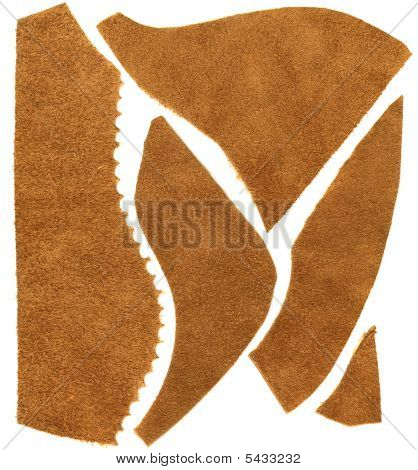 Brown Leather Scraps