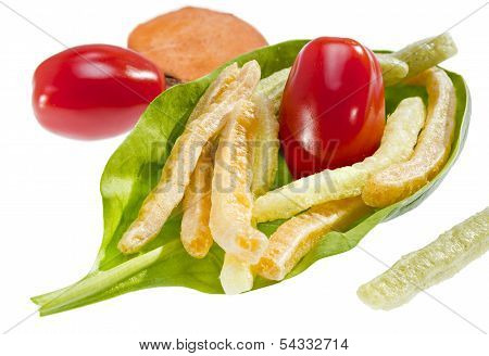 Potato Vegetable Stick Chips.