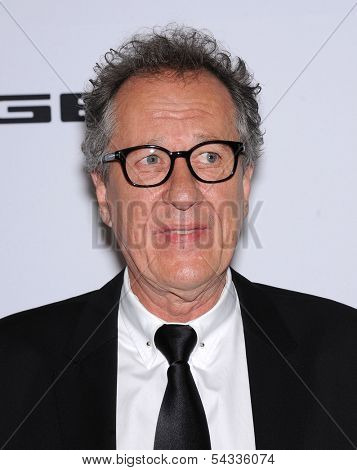 LOS ANGELES - OCT 21:  Geoffrey Rush arrives to Hollywood Film Awards Gala 2013  on October 21, 2013 in Beverly Hills, CA