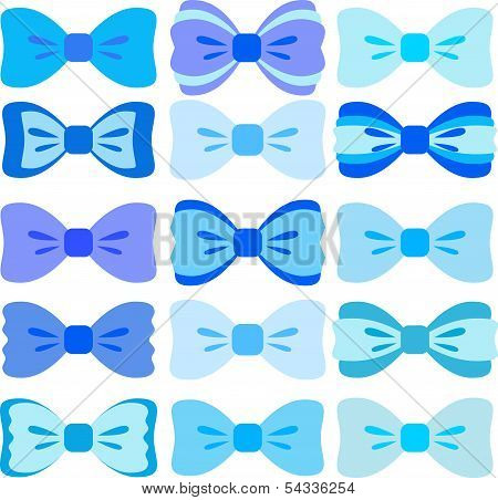 Blue bows collection