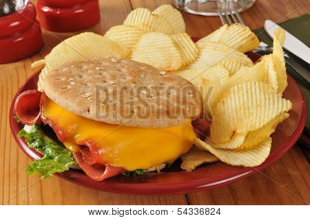 Fried Baloney Sandwich