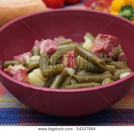 Stew of green beans