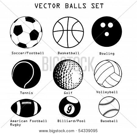 Sport Balls Illustration Set