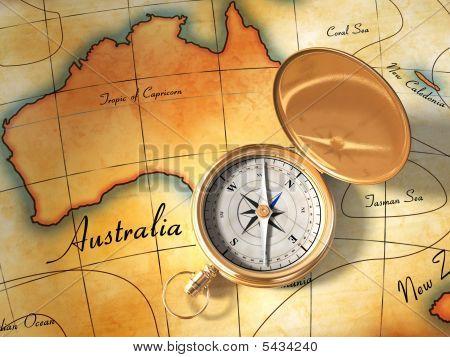 Brújula y el mapa viejo