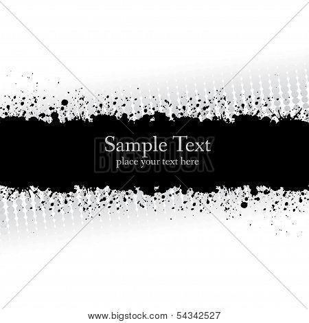 Gray Ink Grunge Banner.