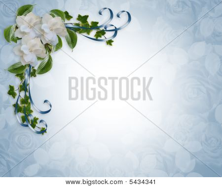 Gardenias And Ivy Elegant Invitation