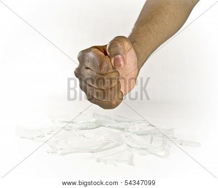 Fist With Broken Glass