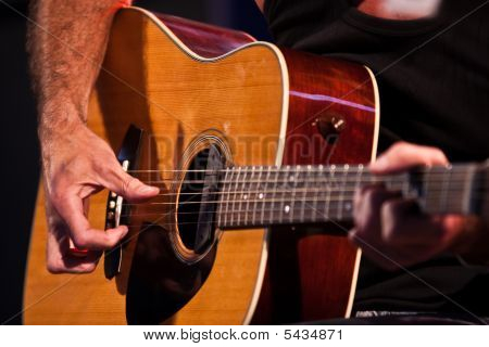 Guitarist Hand With An Classical Guitar - Sharp Back
