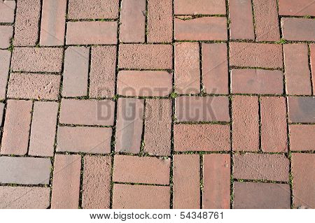 red cobblestones