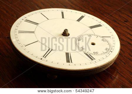 Broken Antique Watch Face With No Hands