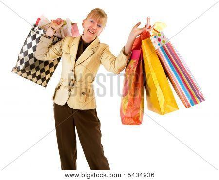 Sênior mulher às compras