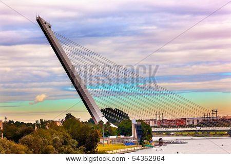 Alamillo Bridge Puente De Alamillo Seville Andalusia Spain