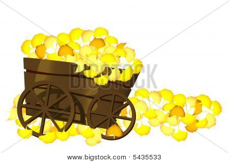 Pushcart And Leaves