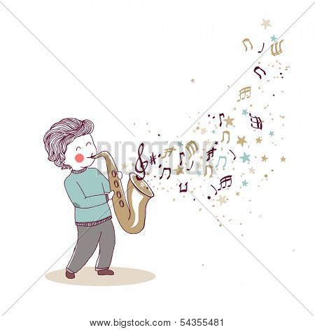 little saxophonist