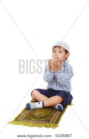 Praying Little Kid