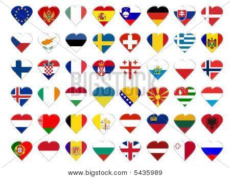 Icon Of European Flag