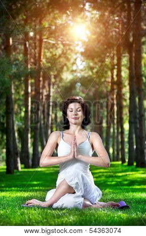 Yoga Meditation In Park