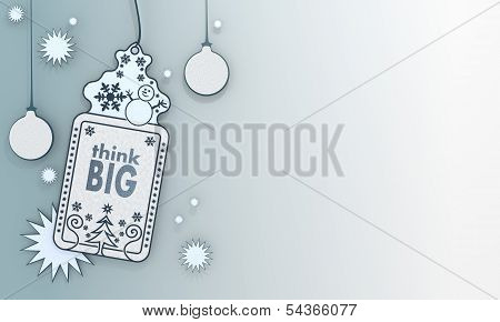 Blue Xmas Coupon With Think Big Card