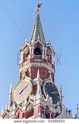 Kremlin Clock Of The Spasskaya Tower