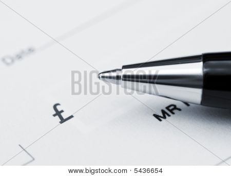 Pen On Cheque